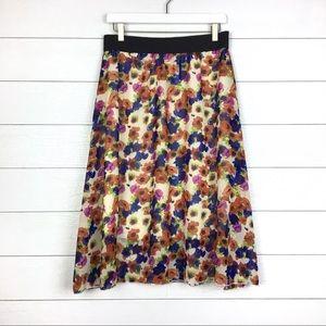 LuLaRoe Lola Skirt Floral Print